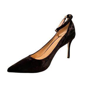 Marion Parke Muse Velvet Stiletto Pump With Ankle